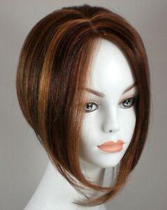 Short Straight Hair Wig w/Wedge Cut - Uneven Bob Wig