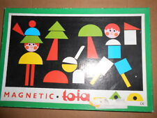 Vintage MAGNETIC TOIA Tofa Playset WOOD SHAPES Picture Maker