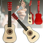 """23"""" Wooden Beginners Practice W/ 6 String Red Acoustic Guitar Children Toys Gift"""