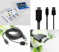 MHL Micro USB to HDMI HDTV CABLE LEAD FOR SAMSUNG GALAXY S3 S4 S5 Note 2/3/4: BL