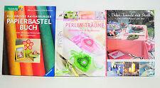 Bücherpaket 3x Deko-Trends mit Stoff/Das große Papierbastelbuch/Perlen-Träume