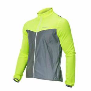 ROCKBROS Jacket Cycling Clothing Sports Reflective Safty Wind Coat Jersey Green