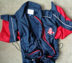 Genuine Merchandise Mens XL Boston Red Socks Baseball Light Full Zip Jacket Coat