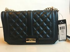 128 Bcbg Paris Black Quilted Gold Chain Small Crossbody Shoulder Bag