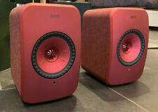 KEF LSX Active Speakers in maroon/red - Ex demo