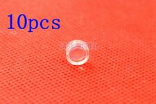 New listing 10pcs 7mm Coated Collimating Optics Lenses Focusing Plastic for Red Laser Diode
