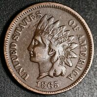 1865 INDIAN HEAD CENT- With LIBERTY - VF VERY FINE+