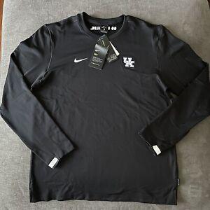 Nike Dri-Fit Kentucky Wildcats Men's Coaches Long Sleeve Black L CQ5049-480 NCAA