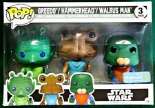 Greedo, Hammerhead, Walrus Man 3-Pack Star Wars Funko Pop Walmart Exclusive