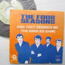 FOUR SEASONS doowop disco pop Spain PS 45 AND THAT REMINDS ME SINGLES GAME F2854