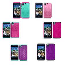 For HTC Desire 626 / Desire 626s Hybrid Hard Diamond Bling Case Skin Phone Cover