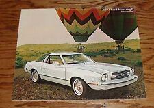 Original 1977 Ford Mustang II Sales Brochure 77 Mach 1 GHIA Cobra 8/76