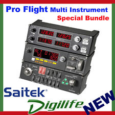 Saitek Pro Flight Multi Instrument PZ70 Switch PZ55 & Radio Panel PZ69 Bundle