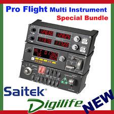 Logitech G Pro Flight Multi Instrument & Switch & Radio Panel Saitek Bundle