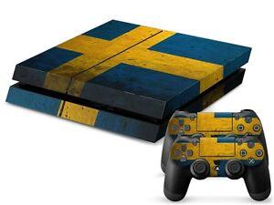 Sony PS4 PLAYSTATION 4 Skin Design Sticker Screen Protector Set - Sweden Motif