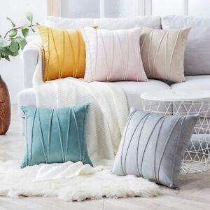 Sofa Striped Soft Cushion Cover Home Decoration Pillowcase Throw Pillow Cover