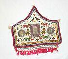 Vintage Banjara Miniature  Door Valance Hand Embroidery Heavy Beaded Tapestry