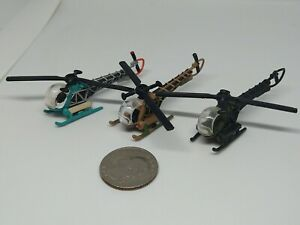 Micro Machines Military Bell 47D Helicopter (See Condition)