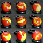 """1 Marble Red Devil by Mega Vacor 5/8"""" Retired & Collectible FREE DOMESTIC SHIP"""