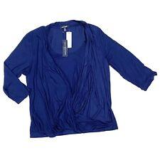 Laila Jayde Stitch Fix Women's Plus Size Dorsi Drape Front Knot Top Blue 3X NWT