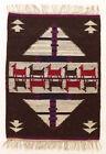 PATH / PURPLE / BROWN Vintage Modernist Polish Textile Wall Hanging / Rug