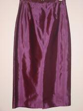 Michaelangelo purple plum long full length satin skirt party holiday sissy-8 NEW