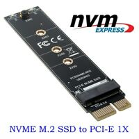 M.2 NVMe SSD TO PCIE 3.0 X1 adapter M Key interface card Test card new