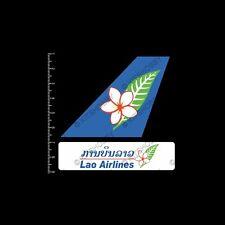 Lao Airlines Logo Sticker (Size 9 cm x 9 cm)