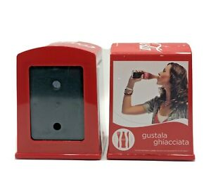 Coca Cola Portatovaglioli Pubblicitario da Bar in Metallo 2 pezzi