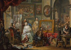 "Johann Georg Platzer : ""The Artist's Studio"" (1740s-50s) — Giclee Fine Art Print"