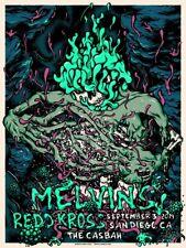 MELVINS / REDD KROSS San Diego 2019 silkscreened poster by Daryll Peirce
