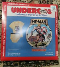 Vintage 80s Underoos He-Man Master Of The Universe L(10-12)sealed