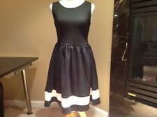 MODCLOTH LUCK BE A LADY A-LINE DRESS IN BLACK AND WHITE, SZ S, NWOT, CUTE!