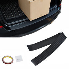 Black Rear Bumper Rubber Pad Kit Guard Sill Plate Trunk Protector Trim Cover HOT