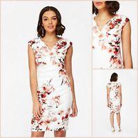 Wallis Petite Shift Dress Size 10 | Ivory Floral Print | BNWT | £50 RRP | New!