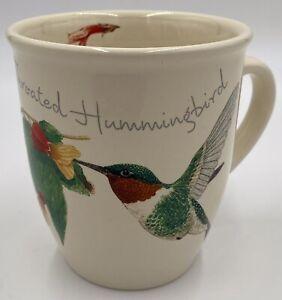 CJ Wildlife Ruby Throated Hummingbird Mug Cup Coffee 12 OZ Botanical Collectible
