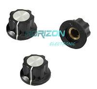 20pcs Adjustable Turn 16mm Top 6mm Shaft Insert Dia Potentiometer Rotary Knobs