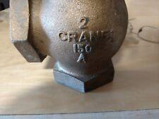 """Crane 2"""" Bronze Globe Angle Valve Class 150"""