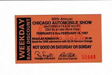 1997 89th Annual CHICAGO AUTO AUTOMOBILE SHOW Weekday Bank Discount TICKET