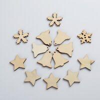 50 Stück natürliche verschiedene Holzformen Tags Weihnachten Verzierungen DIY