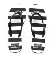 Kate Spade Womens Black And White Striped Slide Flip Flops Sandals Size 7-8 M