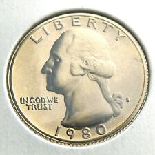 1980S Proof 25 Cents Quarter United States America Uncirculated Coin P482