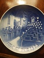"BING AND GRONDAHL Christmas Plate - 1968 ""Christmas in Church"""