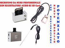 REGISTRA AUDIO MICROFONO PROFESSIONALE SPIA MURO PARETE PORTA SOFFITTO PAVIMENTO
