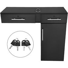 Salon Barber Station Wall Mount Hair Styling Cabinet Makeup Spa Equipment Set