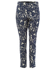 Phase Eight Annie Floral Jacquard Trousers Blue UK 10 LF078 DD 05