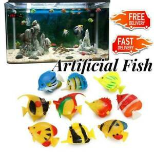 1PCS Artificial Fish Fake Tropical Fish Tank Ornament Decor. Aquarium Color Q2M0