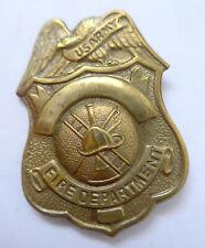 US Feuerwehr Mützenabzeichen --fire department--