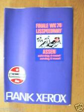 1978 ICESPEEDWAY,FINALE WK IJSSPEEDWAY ASSEN 4/5-3-1978,PRESSE INFO RANK XEROX