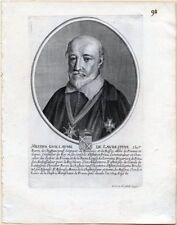 Eau forte de Daret, Portrait de Guillaume de l'Aubépine